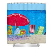Sunny Afternoon At The Beach Shower Curtain