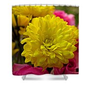 Sunny Flowers Shower Curtain