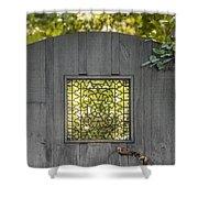 Sunny Garden Gate In Charleston Shower Curtain
