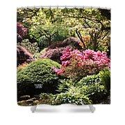 Sunny Japanese Garden Shower Curtain
