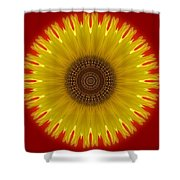 Sunny Kaleidoscope Shower Curtain