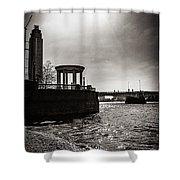 Sunny London Beach 2 Shower Curtain