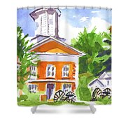 Sunny Morning On The City Square Shower Curtain