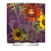 Sunny Pumpkin Shower Curtain