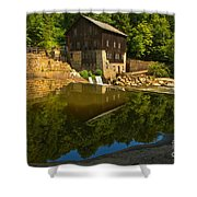 Sunny Refelctions In Slippery Rock Creek Shower Curtain
