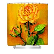 Sunny Rose Shower Curtain