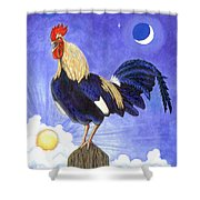 Sunny The Rooster Shower Curtain