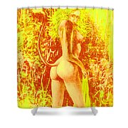 Sunny Wood Nymph Shower Curtain