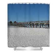 Sunny Day At Naples Pier Shower Curtain