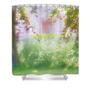 Sunpainting At The Park Shower Curtain