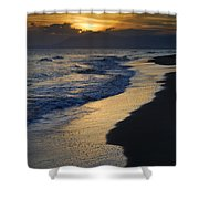 Sunrays Over The Sea Shower Curtain