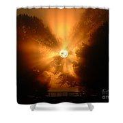 Sunrays Sunrise On Lake Oconee Shower Curtain