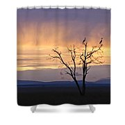 Sunrise And Rain Shower Curtain