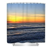 Sunrise And Waves Shower Curtain