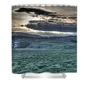 Sunrise At A Small Pond In Yellowstone Shower Curtain