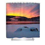 Sunrise At Bass Lake Shower Curtain