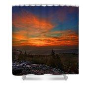 Sunrise At Bear Rocks In Dolly Sods Shower Curtain by Dan Friend
