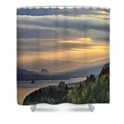 Sunrise At Columbia River Gorge Shower Curtain