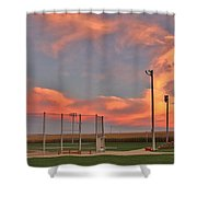 Sunrise At Field Of Dreams Shower Curtain