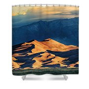 Sunrise At Great Sand Dunes Shower Curtain