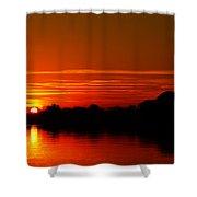Sunrise At Jefferson Memorial Shower Curtain
