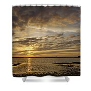Sunrise At Low Tide - Sleepy Cove Shower Curtain
