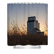 Grain Elevator At Sunrise Shower Curtain