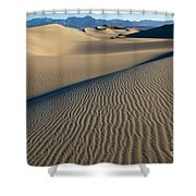 Sunrise At Mesquite Flat Sand Dunes Shower Curtain