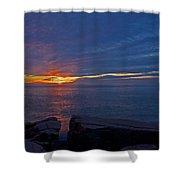 Sunrise At Otter Cliffs Shower Curtain