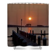 Sunrise At Piney Point Maryland Shower Curtain