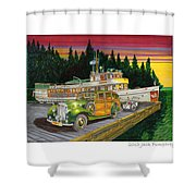 Port Madison Sunrise Shower Curtain