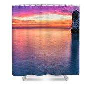 Summer Sunrise Selwick Bay Flamborough Shower Curtain