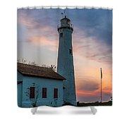 Sunrise At Sturgeon Point Shower Curtain