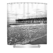 Sunrise At Surfside Bw Shower Curtain
