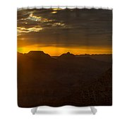 Sunrise At The Canyon Shower Curtain