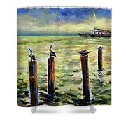 Sunrise At The Inlet By Julianne Felton 2-24-14 Shower Curtain