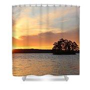 Sunrise At The Lake Shower Curtain