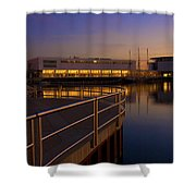 Sunrise At The Lakefront Shower Curtain