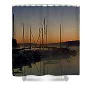 Sunrise At The Marina - Lake Nockamixon State Park Shower Curtain