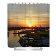 Sunrise At Two Mile Inlet - Wildwood Crest Shower Curtain