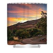 Sunrise At Woodhead Park Shower Curtain by Robert Bales