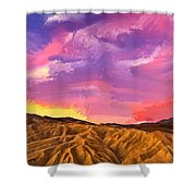 Sunrise At Zabriskie Point Shower Curtain