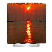 Sunrise Atlantic City Shower Curtain