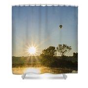 Sunrise Balloon Ride Over Lake Nockamixon Shower Curtain