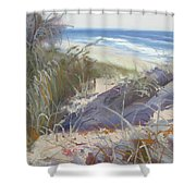 Sunrise Beach Dunes Sunshine Coast Qld Australia Shower Curtain