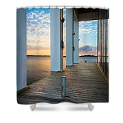 Sunrise Boardwalk Shower Curtain