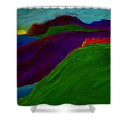 Sunrise Castle By Jrr Shower Curtain