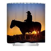 Sunrise Cowboy Shower Curtain