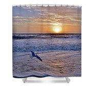 Sunrise Flight Shower Curtain