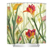 Sunrise Flowers Shower Curtain